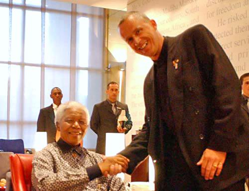 Stefan Hippler und Nelson Mandela