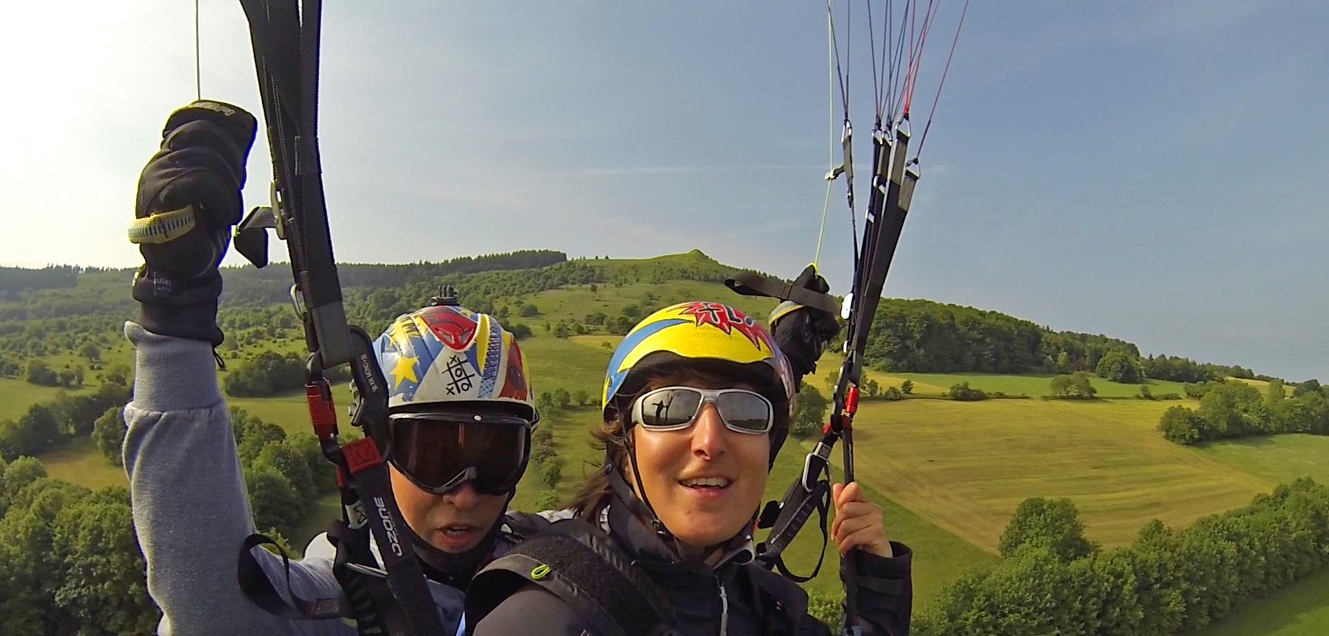 Alexandra Kloft Natur-Training Rhön Gleitschirmflug